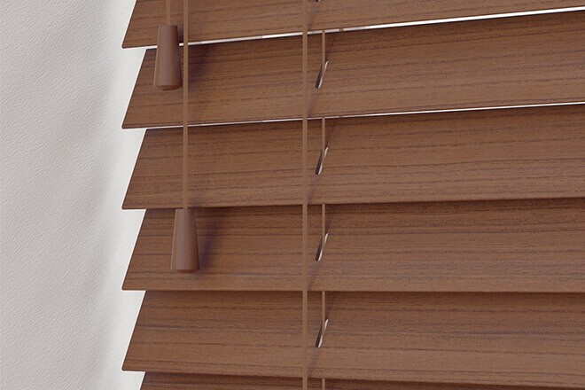Charisma 35 Rich Brown - 35mm Slat Faux Wood Blind