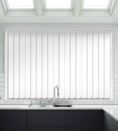 Rio White Gloss Textured - Rigid PVC Vertical Blind