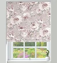 Spring Blush - Floral Pattern Roman Blind