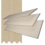 Charisma 50 Stone Fine Grain - 50mm Slat Faux Wood Blind Hessian Tape