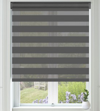 Pure Slate - Ultra Fine Voile Blackout Day and Night Blind