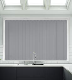 Tuka Grey Satin Finish - Rigid PVC Vertical Blind