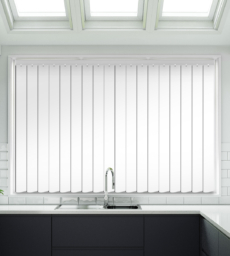 Tuka White Satin Finish - Rigid PVC Vertical Blind