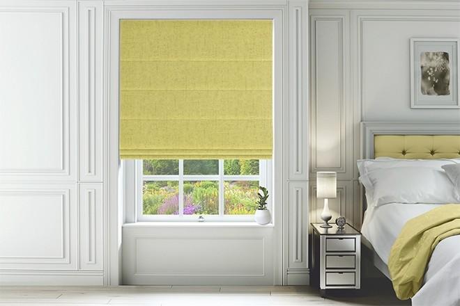 Verona Citrus - Luxury Soft Sheen Roman Blind
