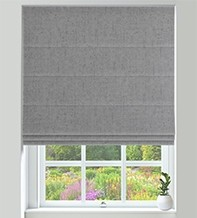 Verona Grey - Luxury Soft Sheen Roman Blind