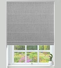 Verona Silver - Luxury Soft Sheen Roman Blind