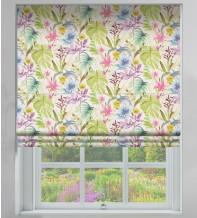 Watercolour Summer - Floral Pattern Roman Blind