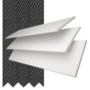 Charisma 35 White Fine Grain - 35mm Slat Faux Wood Blind Black Tape