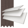 Charisma White Fine Grain - 35mm Slat Faux Wood Blind Coffee Tape