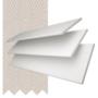 Charisma White Fine Grain - 35mm Slat Faux Wood Blind Mist Tape