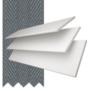 Charisma 50 White Fine Grain - 50mm Slat Faux Wood Blind Slate Tape