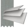 Charisma 35 White - 35mm Slat Faux Wood Blind Flint Tape