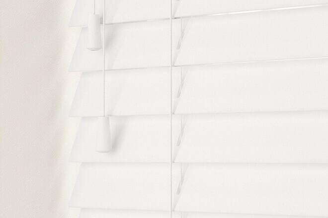 Charisma 35 White - 35mm Slat Faux Wood Blind