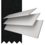 Charisma 50 White Fine Grain - 50mm Slat Faux Wood Blind Black Tape