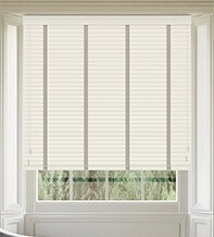 Maine35 Ivory - 35mm Slat Wooden Venetian Blind with Vapour Tape