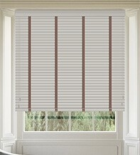 Maine 35 Light Grey - 35mm Slat Wooden Venetian Blind with Canvas Tape