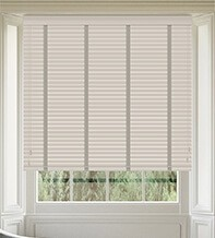 Maine 35 Stone - 35mm Slat Wooden Venetian Blind with Solis Tape