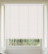 Maine 35 White - 35mm Slat Wooden Venetian Blind with Arctic Tape