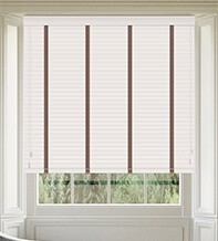 Maine 35 White - 35mm Slat Wooden Venetian Blind with Canvas Tape