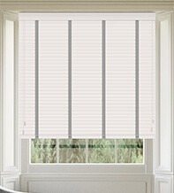 Maine 35 White - 35mm Slat Wooden Venetian Blind with Shadow Tape