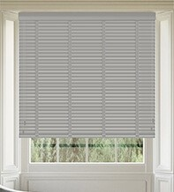 Maine 35 Mid Grey - 35mm Slat Wooden Venetian Blind with Shadow Tape