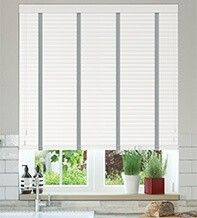 Charisma 35 White - 35mm Slat Faux Wood Blind with Steel Tape