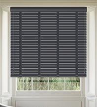 Maine 50 Slate Grey - 50mm Slat Wooden Venetian Blind Dusk Tape