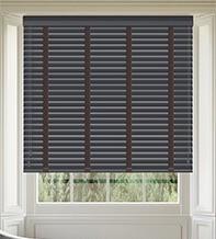 Maine 50 Slate Grey - 50mm Slat Wooden Venetian Blind Husk Tape