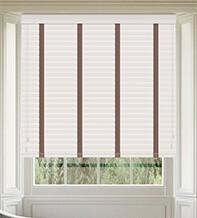 Maine 50 White - 50mm Slat Wooden Venetian Blind Canvas Tape