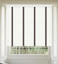 Morgan 50 White Gloss - 50mm Slat Wooden Blind Coffee Tape
