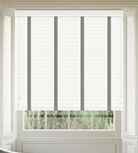 Morgan 50 White Gloss - 50mm Slat Wooden Blind Flint Tape
