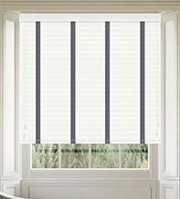 Morgan 50 White Gloss - 50mm Slat Wooden Blind Slate Tape