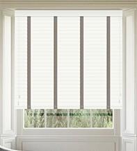 Morgan 50 White Gloss - 50mm Slat Wooden Blind Truffle Tape