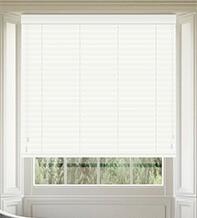 Morgan White Gloss - 50mm Slat Wooden Blind