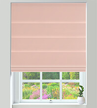 Firenze Powder Pink - Velour Roman Blind