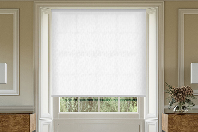 Maisie White - Patterned Roller Blind