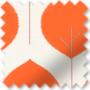 Primal Burnt Orange - Patterned Roller Blind