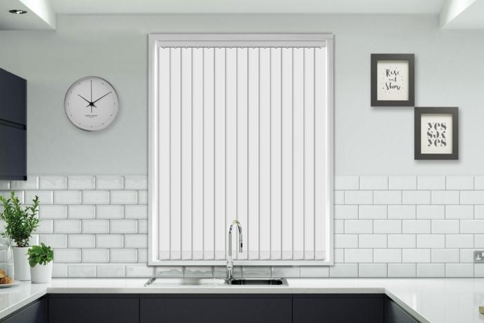 Aurora White - Moisture Resistant & Flame Retardant Vertical Blind