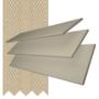 Charisma 35 Beige Fine Grain - 35mm Slat Faux Wood Blind Hessian Tape