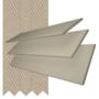 Charisma 35 Beige Fine Grain - 35mm Slat Faux Wood Blind Light Beige Tape