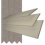 Charisma 35 Beige Fine Grain - 35mm Slat Faux Wood Blind Truffle Tape