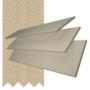 Charisma 35 Beige - 35mm Slat Faux Wood Blind Hessian Tape