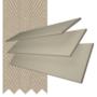 Charisma 35 Beige - 35mm Slat Faux Wood Blind Light Beige Tape