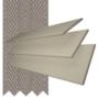 Charisma 35 Beige - 35mm Slat Faux Wood Blind Truffle Tape