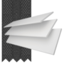 Charisma 35 Bright White - 35mm Slat Faux Wood Blind Black Tape