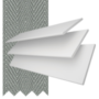 Charisma 35 Bright White - 35mm Slat Faux Wood Blind Flint Tape