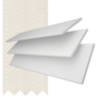 Charisma 35 Bright White - 35mm Slat Faux Wood Blind Vanilla Tape
