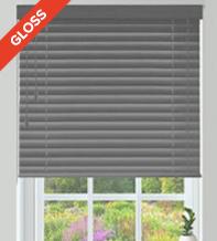 Columbus 50 Grey Gloss - 50mm Slat Gloss Wooden Venetian Blind