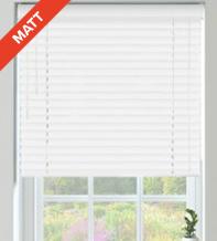 Columbus 50 White Matt - 50mm Slat Matt Wooden Venetian Blind