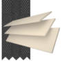 Charisma 35 Cream Fine Grain - 35mm Slat Faux Wood Blind Black Tape